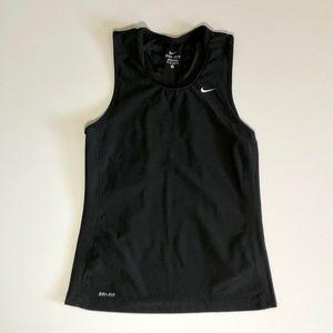 Nike Dri Fit Full back tank with mesh sides, black